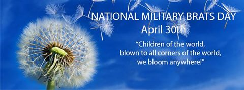 image of National Military Brats Day with motto